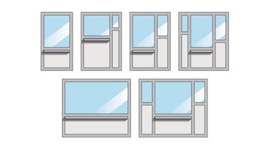 voorbeelden van mogelijke configuraties bij Metal Quartz-loketten